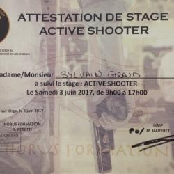 Attestation de stage ACTIVE SHOOTER